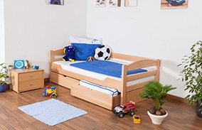 "Massivholz Kinderbett mit Stauraum - ""Easy Sleep"""