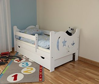wei es kinderbett 70x140 angebot neu. Black Bedroom Furniture Sets. Home Design Ideas