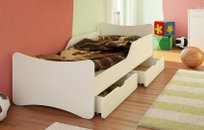 BEST FOR KIDS - MASSIVHOLZ KINDERBETT 90x200 mit Schaummatratze
